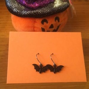 Halloween Bat Earrings